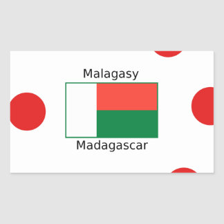 Malagasy Language And Madagascar Flag Design Sticker