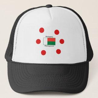 Malagasy Language And Madagascar Flag Design Trucker Hat