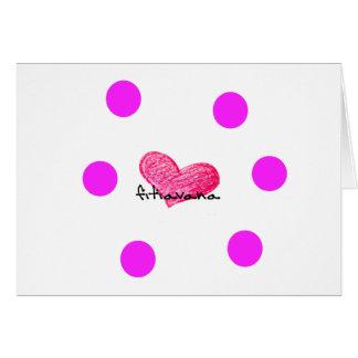 Malagasy Language of Love Design Card
