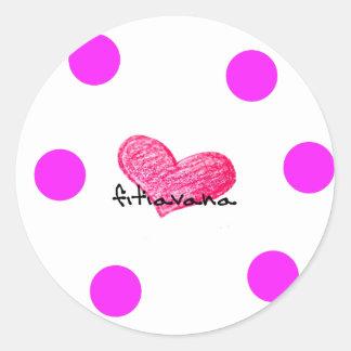 Malagasy Language of Love Design Classic Round Sticker