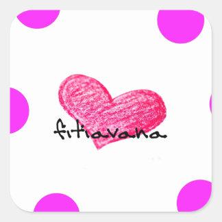 Malagasy Language of Love Design Square Sticker