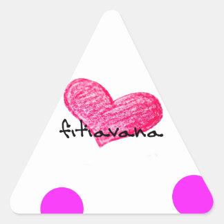 Malagasy Language of Love Design Triangle Sticker