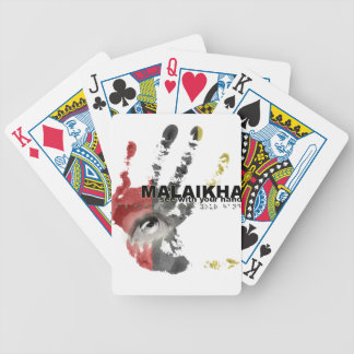 Malaikha - see with your hands bicycle playing cards