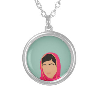 Malala Yousafzai Silver Plated Necklace