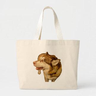 Malamute 01 large tote bag