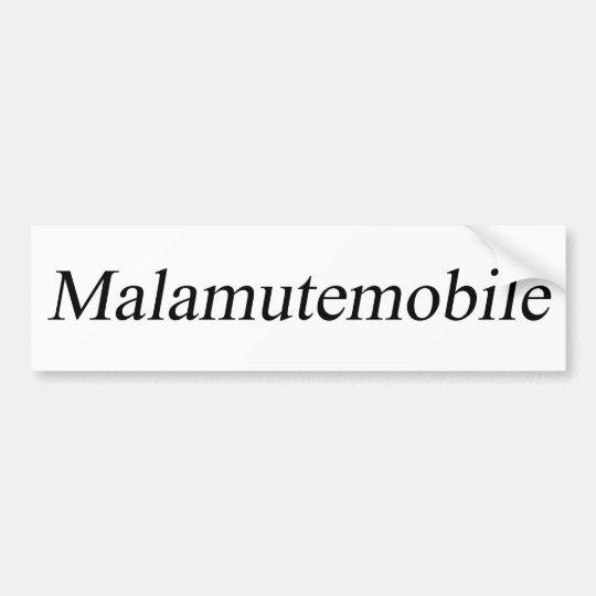 Malamute Bumper Sticker