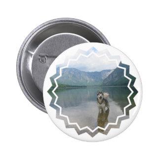 Malamute Dog Round Button
