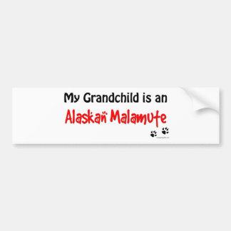 Malamute Grandchild Bumper Sticker