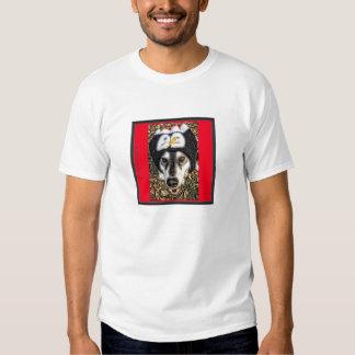 Malamute/Husky wearing Baseball Style Cap Tee Shirts