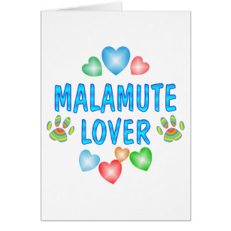 MALAMUTE LOVER CARD