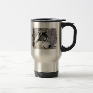 Malamute Photo Stainless Travel Mug
