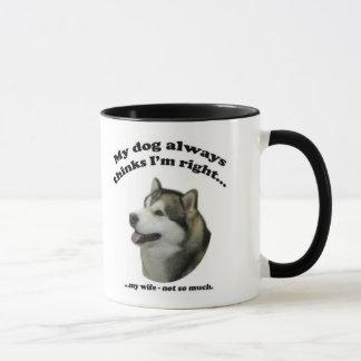 Malamute vs Wife Mug
