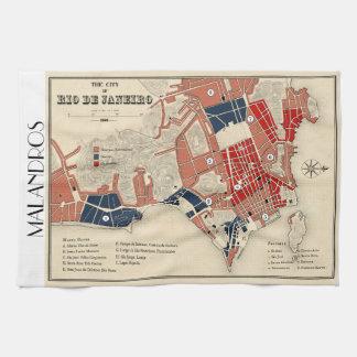 Malandros Rio map tea towel