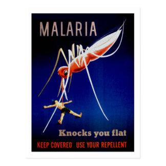 Malaria Kills Postcard