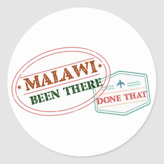 Malawi Been There Done That Classic Round Sticker