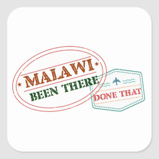 Malawi Been There Done That Square Sticker