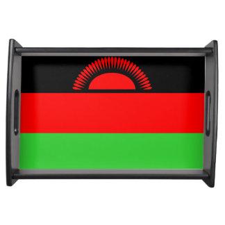 Malawi country long flag nation symbol republic serving platter