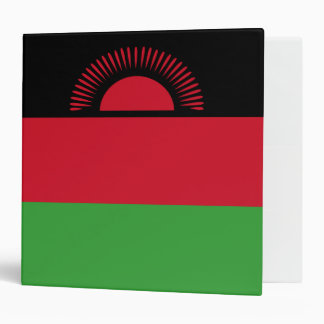 Malawi Flag 3 Ring Binder