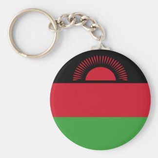 Malawi Flag Basic Round Button Keychain