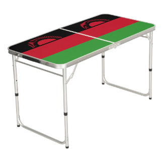 Malawi Flag Beer Pong Table