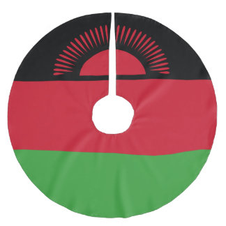 Malawi Flag Brushed Polyester Tree Skirt