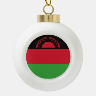 Malawi Flag Ceramic Ball Ornament