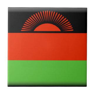 Malawi Flag Ceramic Tile