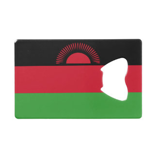 Malawi Flag Credit Card Bottle Opener