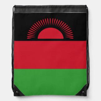 Malawi Flag Drawstring Bag