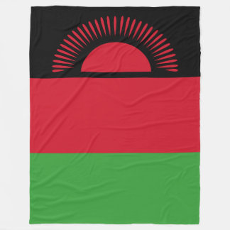 Malawi Flag Fleece Blanket