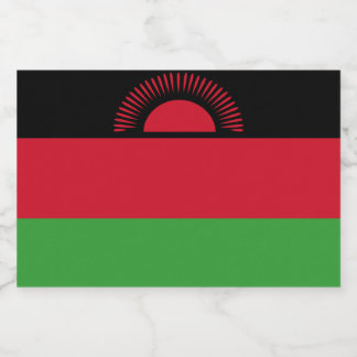 Malawi Flag Food Label