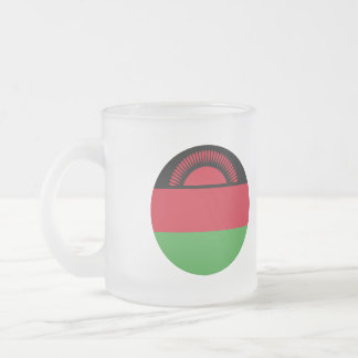 Malawi Flag Frosted Glass Coffee Mug