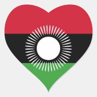 Malawi Flag Heart Sticker