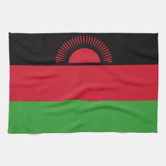 Malawi Flag Kitchen Towel