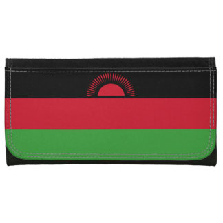 Malawi Flag Leather Wallet