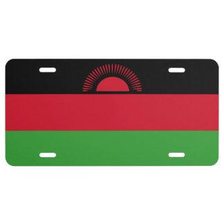 Malawi Flag License Plate