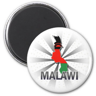 Malawi Flag Map 2.0 2 Inch Round Magnet