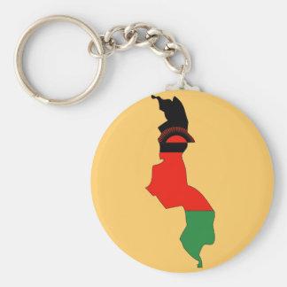 Malawi flag map keychain