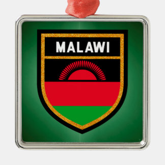 Malawi Flag Metal Ornament
