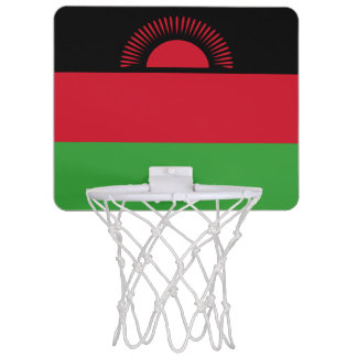 Malawi Flag Mini Basketball Hoop