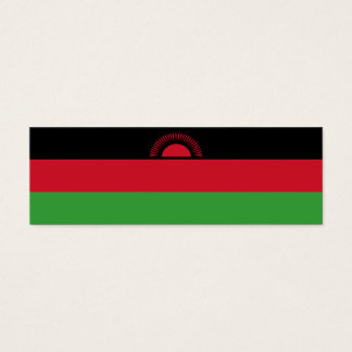 Malawi Flag Mini Business Card