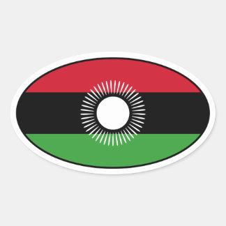 Malawi Flag Oval Sticker