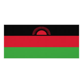 Malawi Flag Personalized Rack Card
