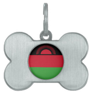 Malawi Flag Pet Name Tag