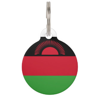 Malawi Flag Pet Tag