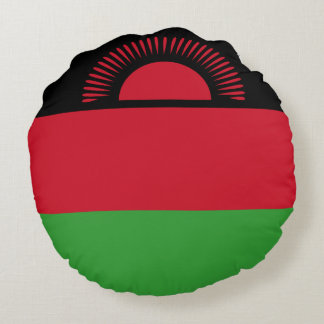 Malawi Flag Round Pillow