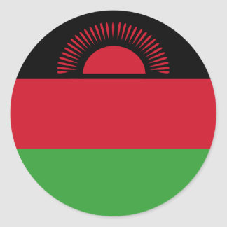 Malawi Flag Round Sticker