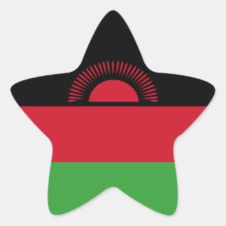Malawi Flag Star Sticker