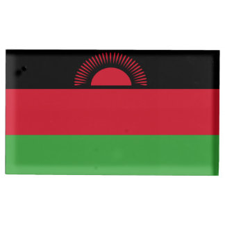 Malawi Flag Table Card Holder