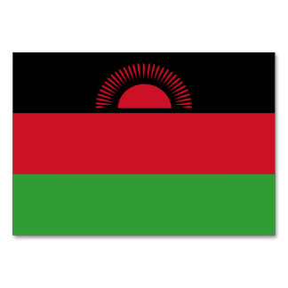 Malawi Flag Table Cards